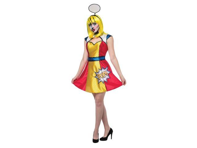 Adult Pop Art Girl Costume by Rasta Imposta 6464
