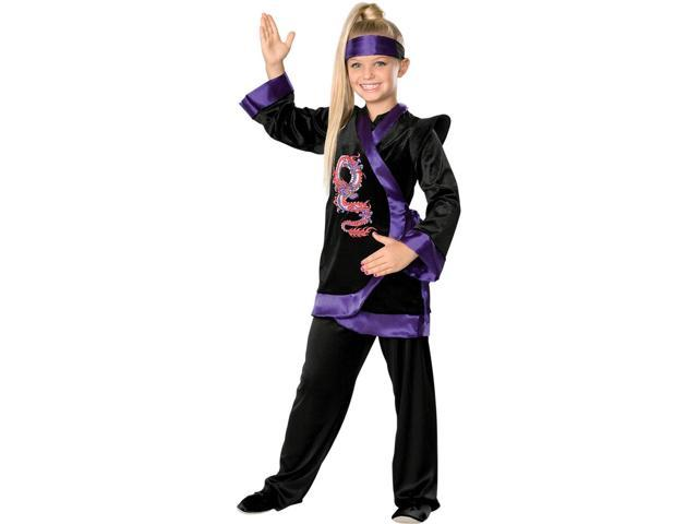 Girl's Purple Ninja Costume Rubies 882380