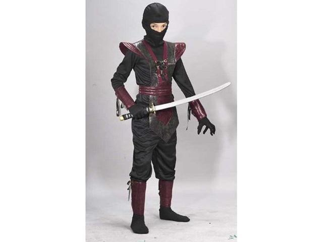 Child Red Leather Ninja Costume FunWorld 5920