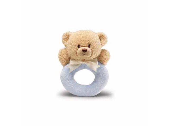 Blue Teddi Ring Rattle by Gund - 4034082