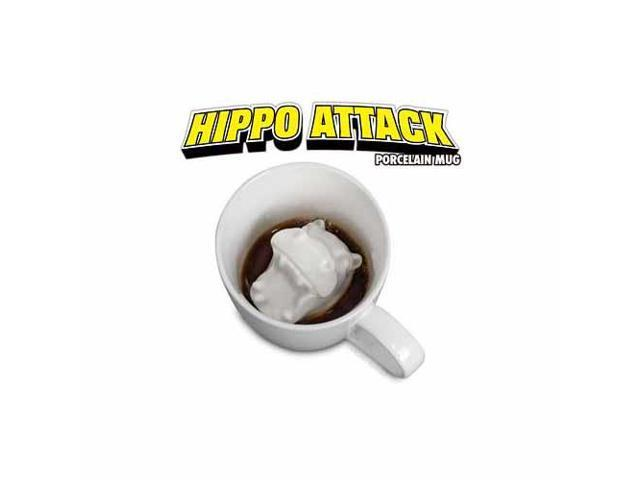 Accoutrements Hippo Attack Porcelain Mug