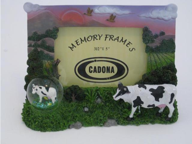 Cow Photo Frame with Globe