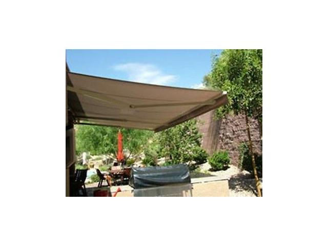 ALEKO RETRACTABLE AWNING 13FT X 10FT 4M 25M SAND COLOR PATIO