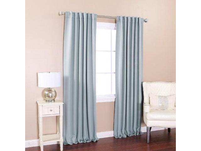 Aleko 52 X 84 Light Grey Solid Thermal Insulated Blackout Curtain Panel Set