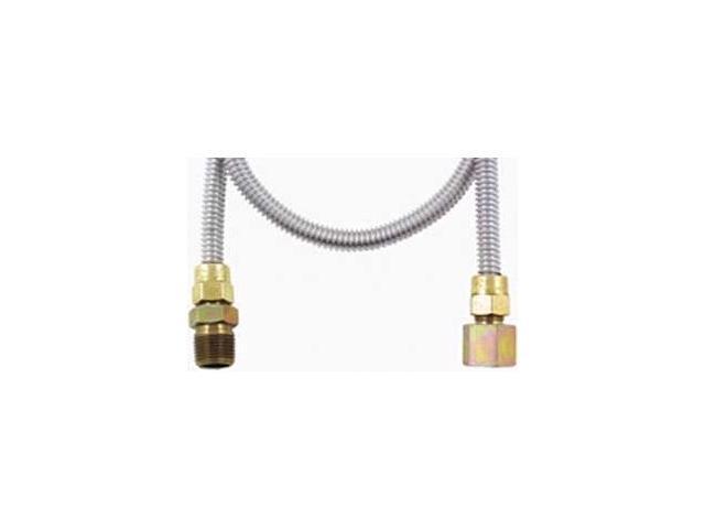 "APP DRYER KIT Stainless Steel Gas Dryer Flex Line 3/8"" O.D. ("" I.D.) FLEX-LINES (36"")"