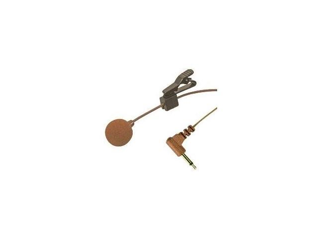 Lavalier Microphone with Tie Clip and 3.5mm Plug - Brown