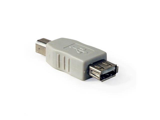 USB A Male to B Male Adapter Gray