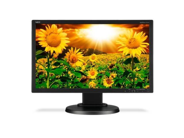Multisync E201W-Bk 20 Inch Widescreen 25,000:1 5Ms Vga/Dvi/Displayport Led Lcd Monitor (Black)