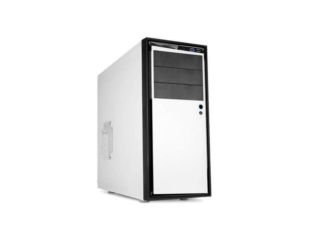 Source 210 Elite No Power Supply Atx Mid Tower Case (White)