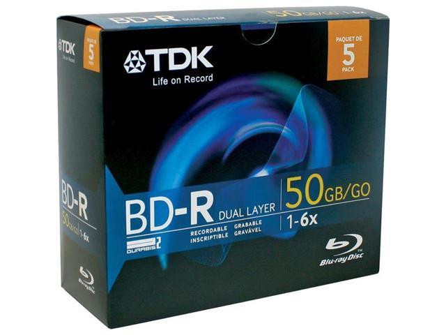61687 6x Write-Once Dual Layer Blu-ray  Disc  - 5 Pack