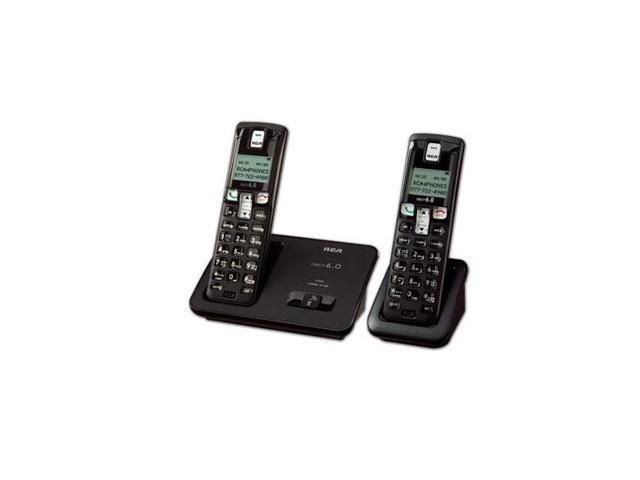 DECT 6.0 Digital Cordless Phone w/ 2 Han