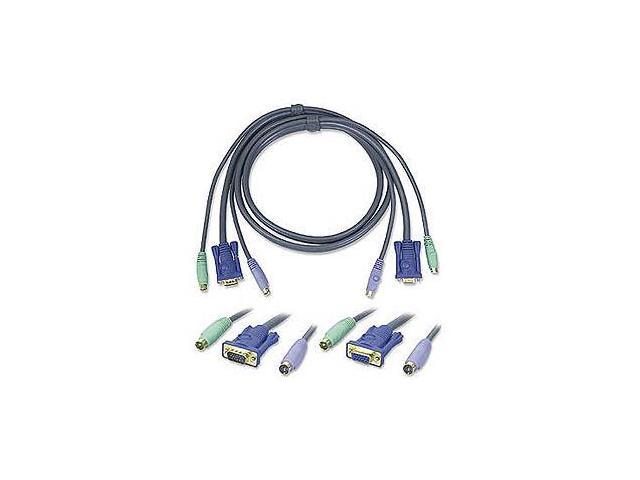 KVM, PS2 Cable, Low Loss, 6ft 2l1001p/c
