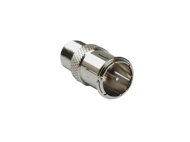 Coaxial Adapter, F Male Push-on/f Female