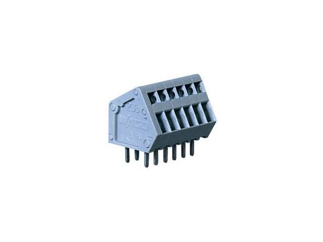 WAGO 233-405 TERMINAL BLOCK, PCB, 5POS, 28-20AWG