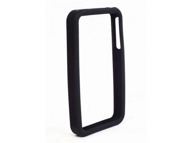 IPS225 Secure Grip Rubber Bumper Frame for iPhone 4 - Black