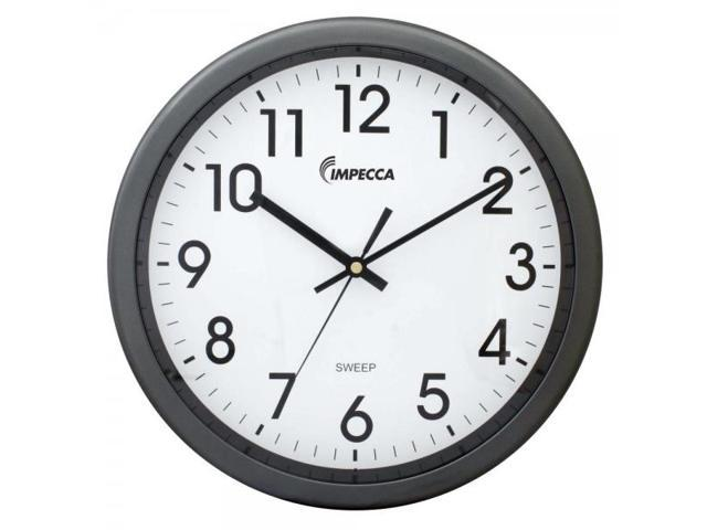 12 Inch Quiet Movement Wall Clock - Grey
