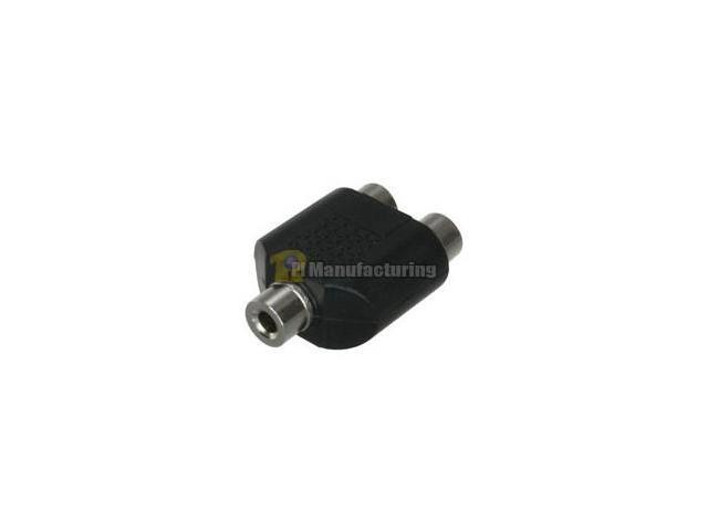 3.5mm Stereo Female to 2 RCA Female Adapter