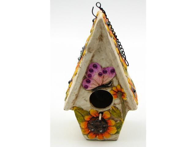 Stoneware Butterfly Birdhouse
