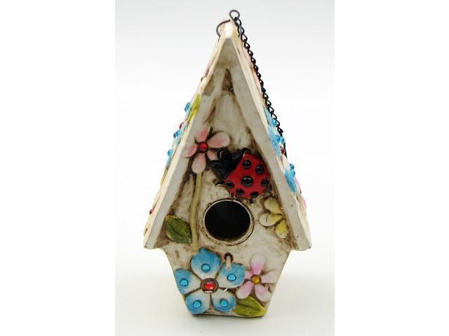 Stoneware Ladybug Birdhouse