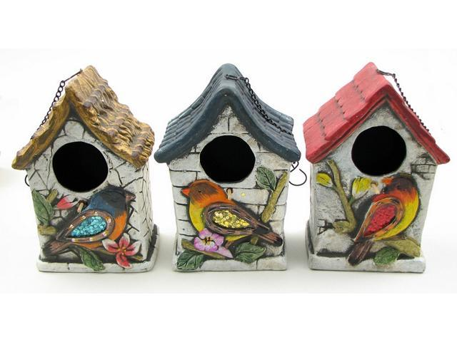 Terra cotta Bird House 3 assorted priced each.