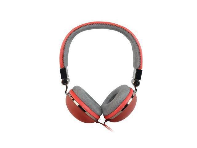 Storm Series Full Size Red Headphones with Mic and Volume