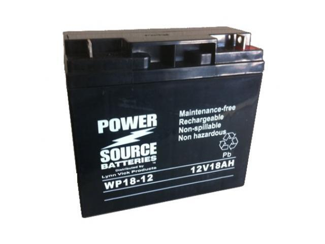 Power Source Battery WP18-12 91-218 - 1 Year Manufacturer Warranty!