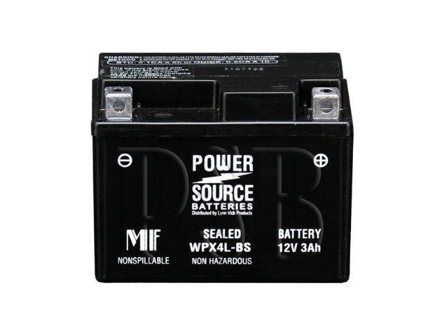 Power Source Battery WPX4L-BS - 1 Year Manufacturer Warranty!