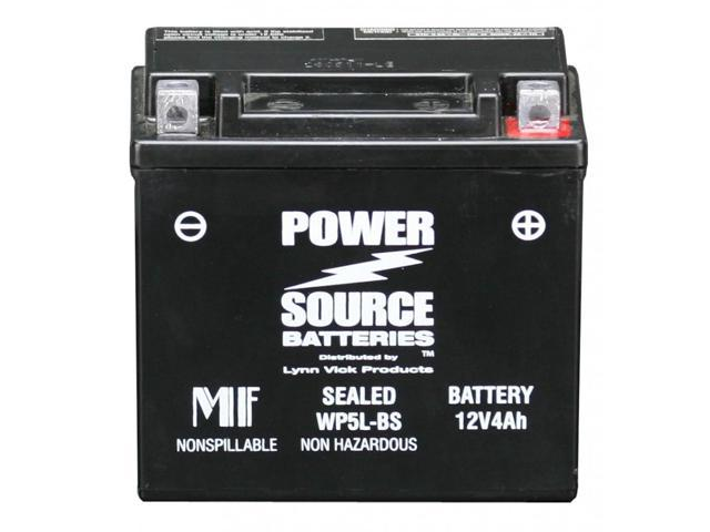 Power Source Battery WP5L-BS (YTX5L-BS Replacement) Sealed Battery 01-315 - 1 Year Manufacturer Warranty!