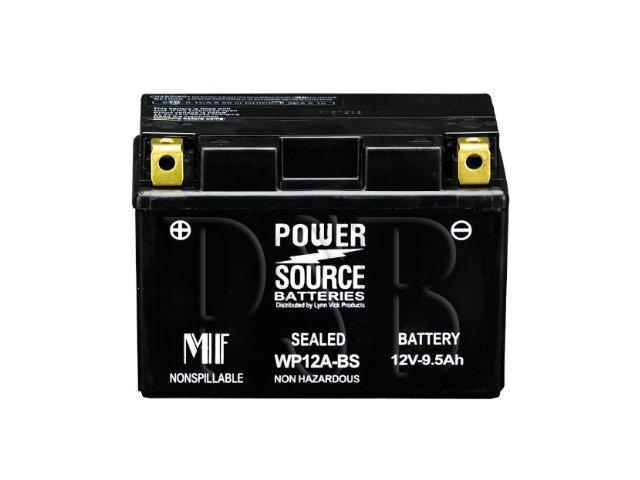 Power Source Batteries WP12A-BS (YT12A-BS Replacement) Sealed Battery 01-334 - 1 Year Manufacturer Warranty!