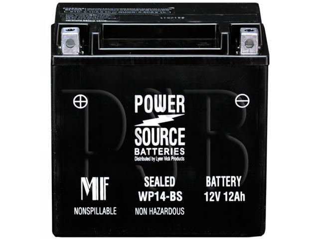 Power Source Battery WP14-BS (YTX14-BS Replacement) Sealed Battery 01-345 - 1 Year Manufacturer Warranty!