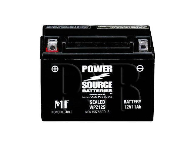 Power Source Batteries WPZ12S (YTZ12S Replacement) Sealed Battery 01-337 - 1 Year Manufacturer Warranty!