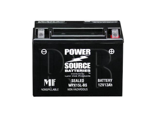 Power Source Batteries WPX15L-BS (YTX15L-BS Replacement) Sealed Maintenance Free Battery 01-355 - 1 Year Manufacturer Warranty!