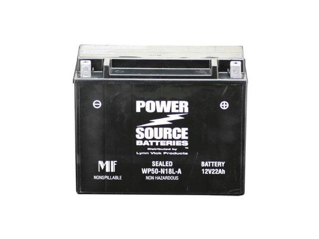 Power Source Batteries WP50-N18L-A Sealed Maintenance Free Battery 01-360 - 1 Year Manufacturer Warranty!