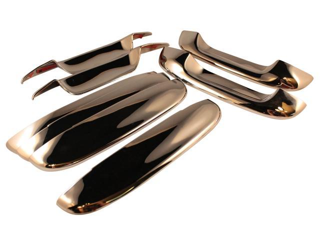 Set of 4 (8 Piece) Chrome Plated Door Handle Covers for Buick Rainer / Cadillac CTS, DTS, Deville /Chevrolet Trailblazer / GMC Envoy / Isuzu Ascender –  Part: CCIDH68131B