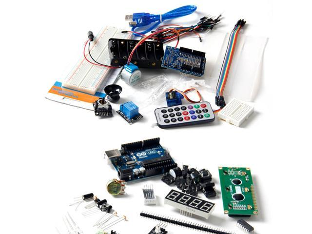 UNO R3 Upgrade Kit with Motor LCD Servo Module for Arduino AVR Starter For 24 Experiment Servo Control LED Flashes Hello ...