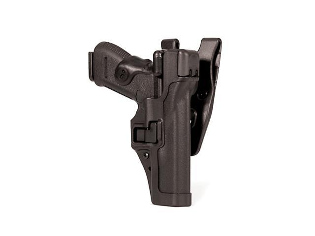 BLACKHAWK 44H113BW-L Serpa Duty Holster,Left,Glock 20/21
