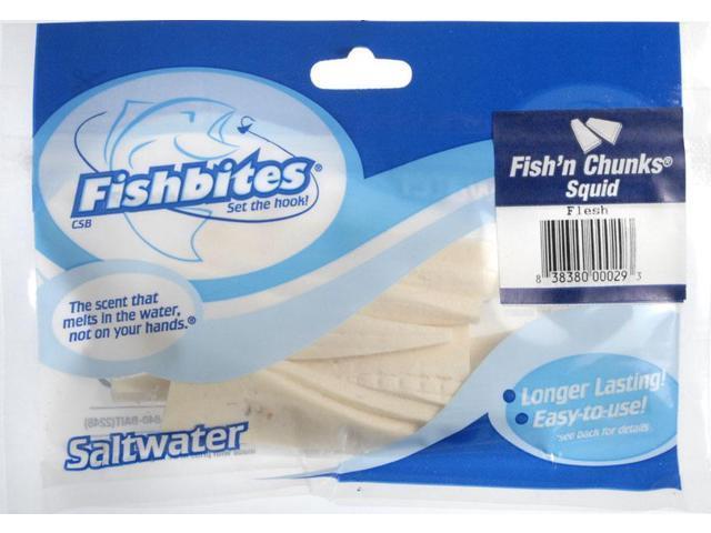 Fishbites 29 fish bites squid chunx flesh fishing prepared for Fish bites bait
