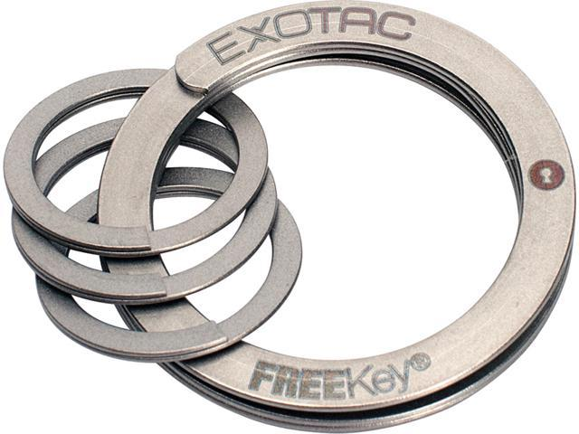 Exotac 2825 Freekey System Noexport All Stainless Construction W/ 3 Mini Rings
