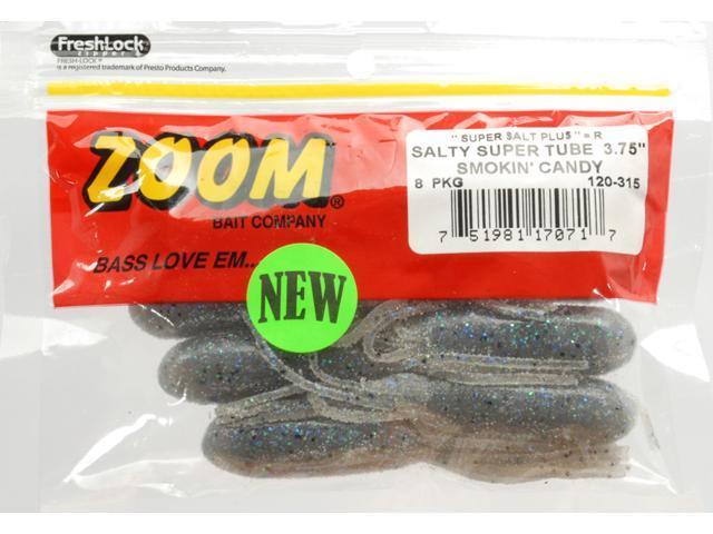 Zoom 120-315 Salty Super Tube 3 75 Smokincn Fishing Soft Plastic