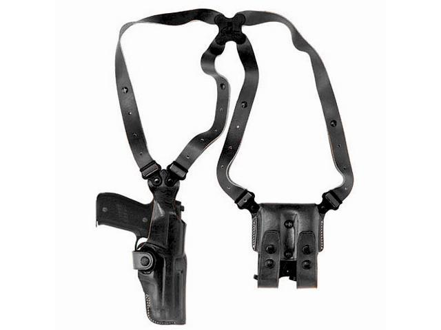 Galco VHS248B Black RH Vertical Shoulder Holster Browning BDA .45