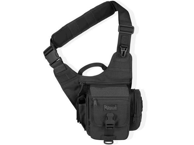 Maxpedition 0408B S-Type Fatboy VersiPack Left Side Carry - Black Nylon
