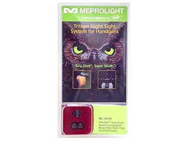 Meprolight Night Sights Tru-Dot Sure Shoot Green Fixed Sig 9mm/.357 ML-10110