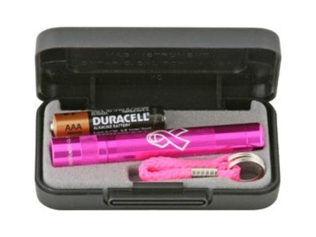 Maglite K3AMW2 Pink Solitaire Mini-Mag AAA Flashlight w/ Keylead & Case