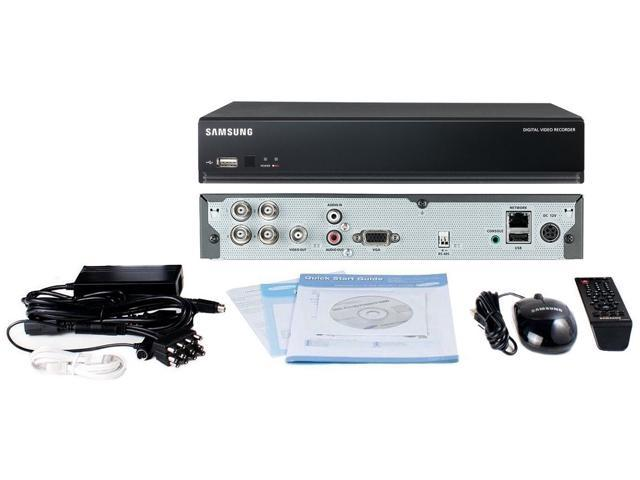 Samsung SDS-P3040N 4 Channel DVR Security System 500 GB HDD 4x 600TVL Box Cameras Package System.