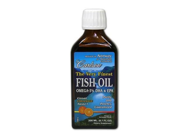 Very Finest Fish Oil Orange Flavor - Carlson Laboratories - 200 ml - Liquid