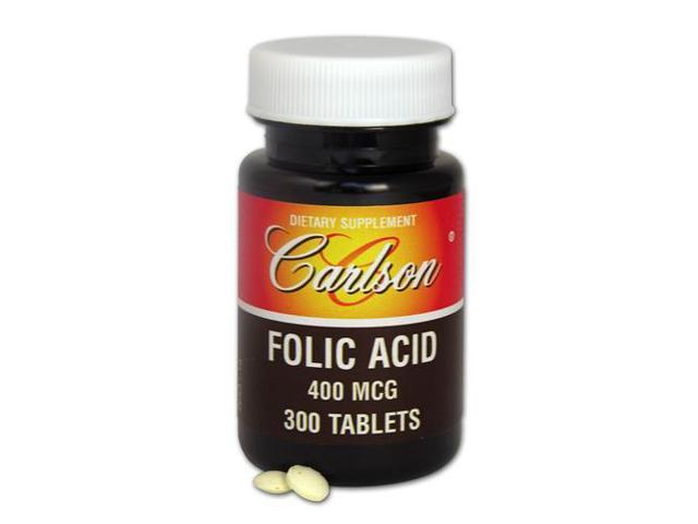 Folic Acid 400mcg - Carlson Laboratories - 300 - Caplet
