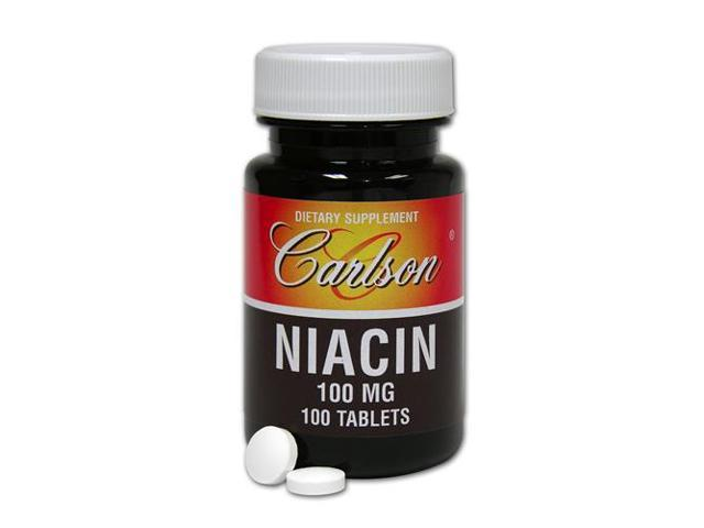 Niacin 100mg - Carlson Laboratories - 100 - Tablet