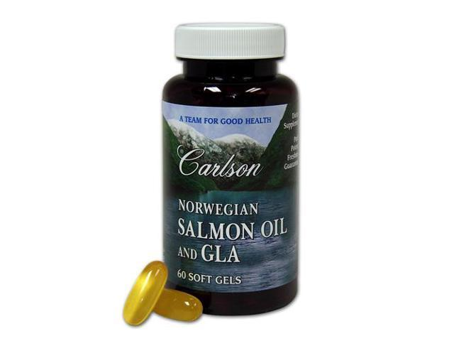Norwegian Salmon Oil And GLA (Omega 3 & 6) - Carlson Laboratories - 60 - Softgel