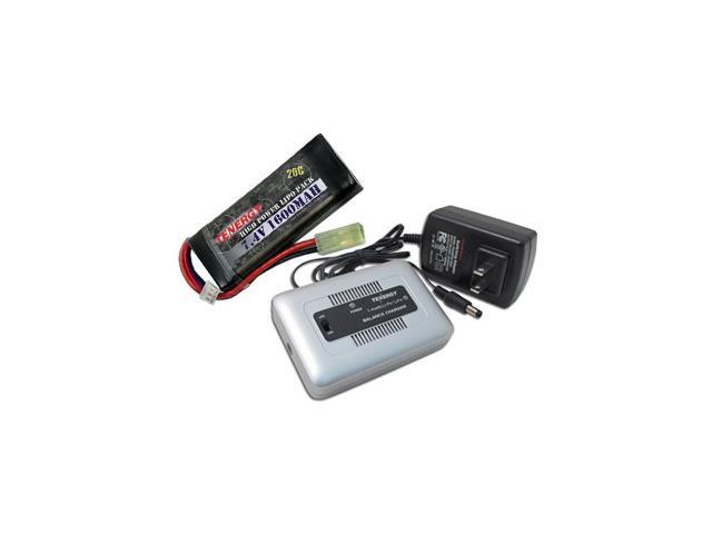 Tenergy TN267 1-4 Cells Li-PO/Li-Fe Balance Charger + 7.4V 1600mAh 20C LiPO Battery Pack