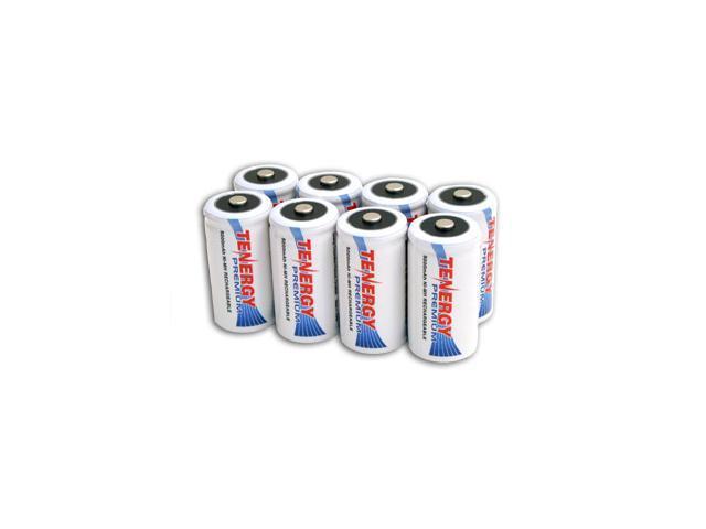 Combo: 8 pcs Tenergy Premium C 5000mAh NiMH Rechargeable Batteries